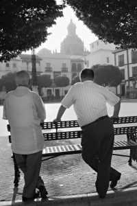 Plaza de San Fernando, de la serie Homenaje a Carmona,