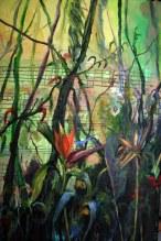 Ave del paraiso para una Bourre, 89 x 1,116. 2010.