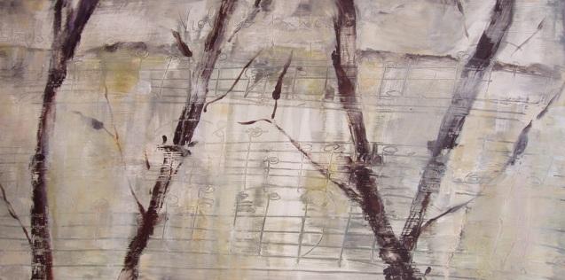 Bambu-para-Violino-principale,-50-x-1,-técnica-mixta,-2009