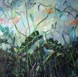 Las alocasias de Ana, óleo sobre lienzo,1x1, 2010.