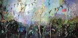 Tumbada mientras espero, óleo sobre lienzo, 80x1,40. 2010