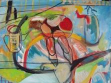 El bodegón del corazón, óleo sobre lienzo, 86 x 1,10. 2002.