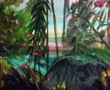 En Bambulú, mixta sobre tela, 40x50. 2009.