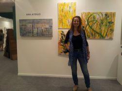 Ana Aydillo en la Feria de Arte de San Sebastian, 2014.Galería Javier Román.