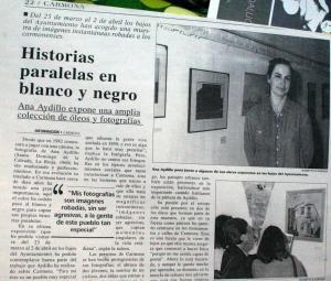 Exposición Ana Aydillo en Ayuntamiento de Carmona, 1999.