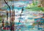 Paisaje zen, 50x70, mixta sobre tabla, 2008.
