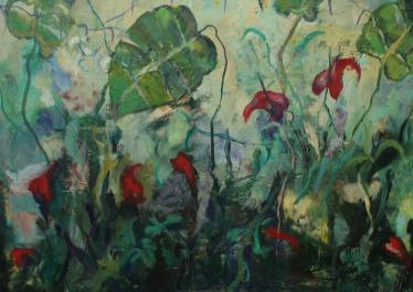 La espalda de Adán,óleo sobre lienzo, 89x1,16,2010, en la página de Paisajes.