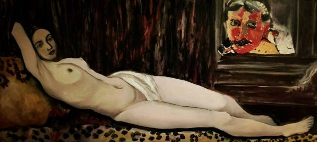 Derains Venus, oil on canvas 55x1,20,2016,