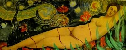 Giorgones Venus,60x1,20, 2016.